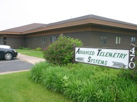 exterior view of ATS' facility in Isanti, Minn.; manufacturer of the world's leading radio telemetry and GPS systems for wildlife researchers